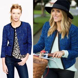 •J. Crew• Lady Coat Bolero In Blue Tweed